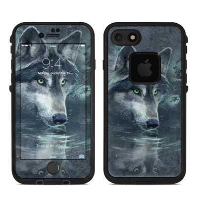 Lifeproof iPhone 7 Fre Case Skin - Wolf Reflection