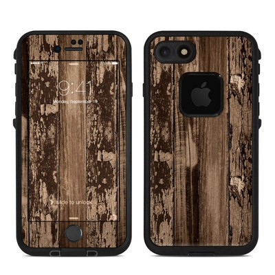 Lifeproof iPhone 7 Fre Case Skin - Weathered Wood