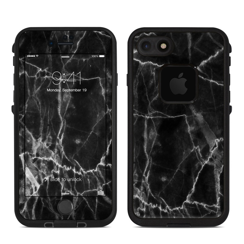iphone 7 phone case black marble