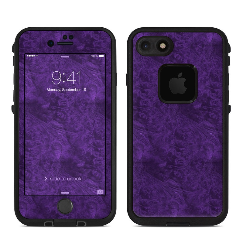 online store e5474 51da2 Lifeproof iPhone 7 Fre Case Skin - Purple Lacquer by DecalGirl Collective