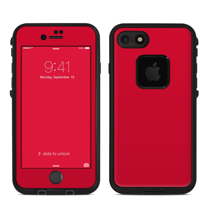 Lifeproof iPhone 7 Fre Case Skin - Solid State Red by Solid Colors ...