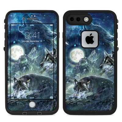 Lifeproof iPhone 7 Plus Fre Case Skin - Bark At The Moon