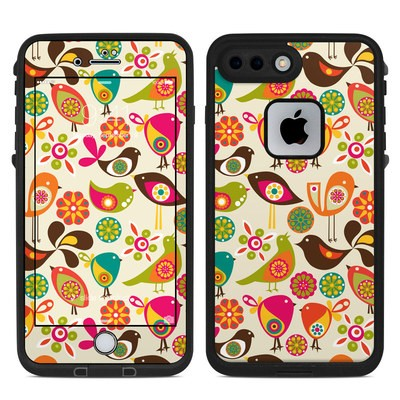 Lifeproof iPhone 7-8 Plus Fre Case Skin - Bird Flowers