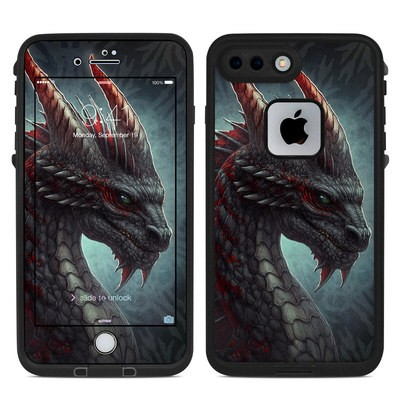 Lifeproof iPhone 7-8 Plus Fre Case Skin - Black Dragon