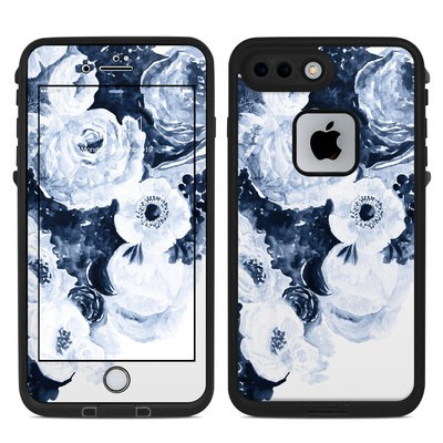 Lifeproof iPhone 7-8 Plus Fre Case Skin - Blue Blooms