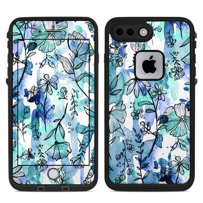 Lifeproof iPhone 7-8 Plus Fre Case Skin - Blue Ink Floral