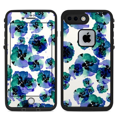 Lifeproof iPhone 7 Plus Fre Case Skin - Blue Eye Flowers