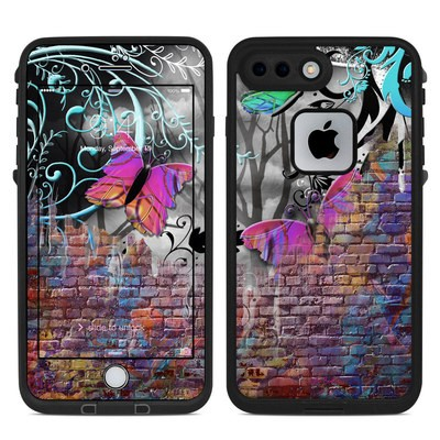 Lifeproof iPhone 7 Plus Fre Case Skin - Butterfly Wall