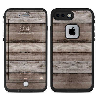 Lifeproof iPhone 7 Plus Fre Case Skin - Barn Wood