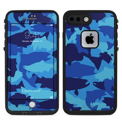 Lifeproof iPhone 7-8 Plus Fre Case Skin - Camo Fish