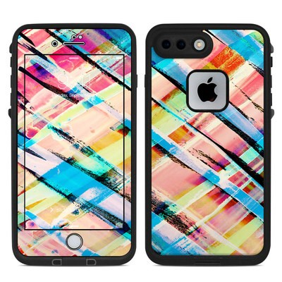 Lifeproof iPhone 7 Plus Fre Case Skin - Check Stripe