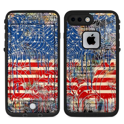 Lifeproof iPhone 7-8 Plus Fre Case Skin - Cobweb Flag