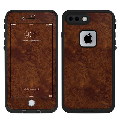 Lifeproof iPhone 7 Plus Fre Case Skin - Dark Burlwood