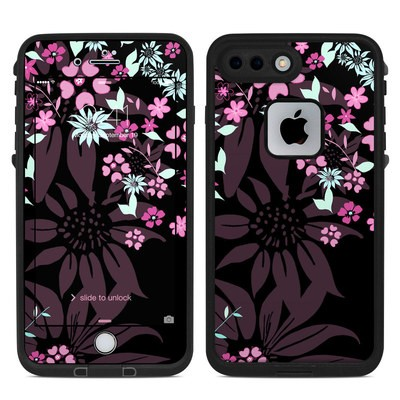 Lifeproof iPhone 7 Plus Fre Case Skin - Dark Flowers