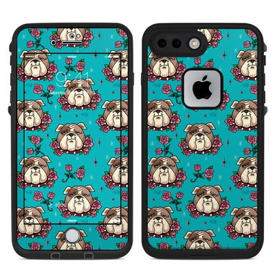 Lifeproof iPhone 7-8 Plus Fre Case Skin - Bulldogs and Roses
