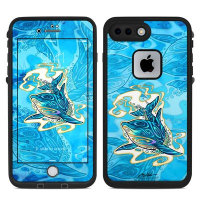 Lifeproof iPhone 7 Plus Fre Case Skin - Dolphin Daydream