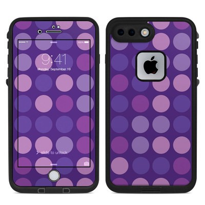 Lifeproof iPhone 7-8 Plus Fre Case Skin - Big Dots Purple