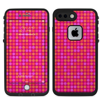 Lifeproof iPhone 7 Plus Fre Case Skin - Dots Pink