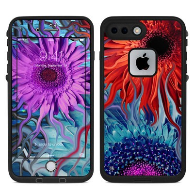 Lifeproof iPhone 7-8 Plus Fre Case Skin - Deep Water Daisy Dance