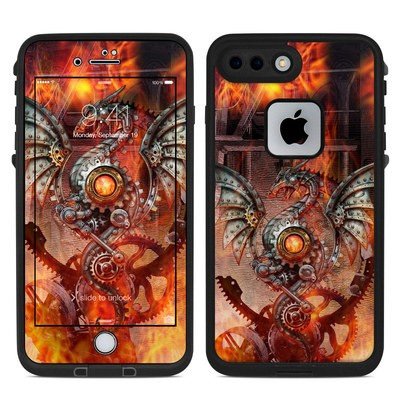 Lifeproof iPhone 7 Plus Fre Case Skin - Furnace Dragon