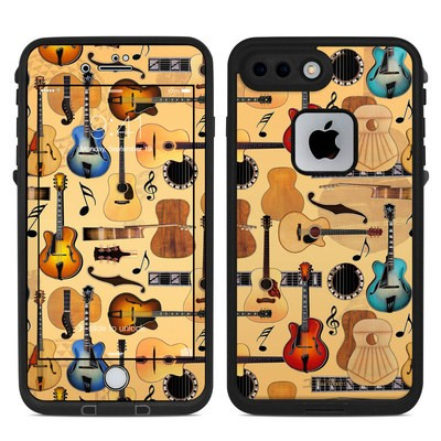 Lifeproof iPhone 7-8 Plus Fre Case Skin - Guitar Collage