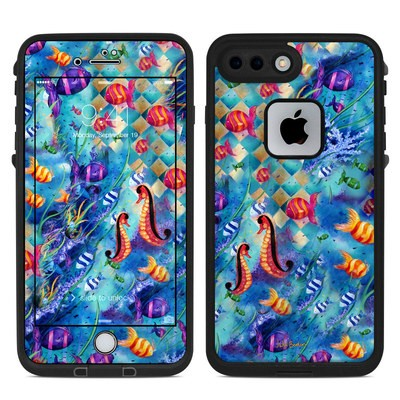 Lifeproof iPhone 7 Plus Fre Case Skin - Harlequin Seascape
