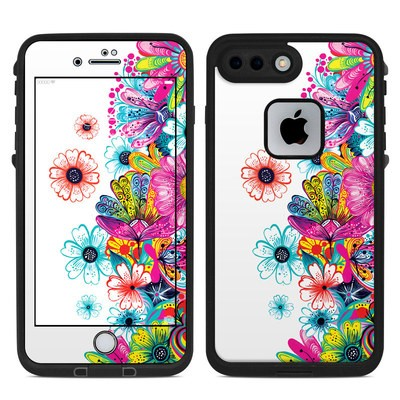 Lifeproof iPhone 7 Plus Fre Case Skin - Intense Flowers