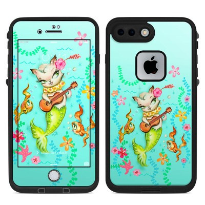 Lifeproof iPhone 7-8 Plus Fre Case Skin - Merkitten with Ukelele