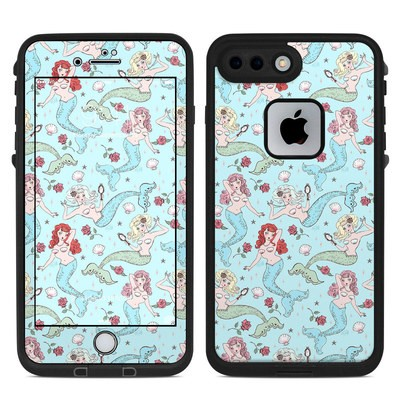 Lifeproof iPhone 7-8 Plus Fre Case Skin - Mermaids and Roses