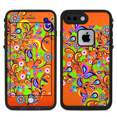 Lifeproof iPhone 7-8 Plus Fre Case Skin - Orange Squirt