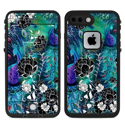 Lifeproof iPhone 7 Plus Fre Case Skin - Peacock Garden