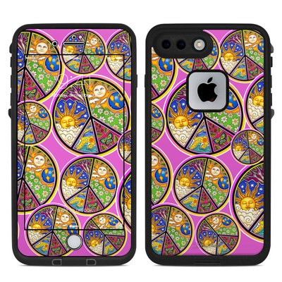 Lifeproof iPhone 7 Plus Fre Case Skin - Peace Signs