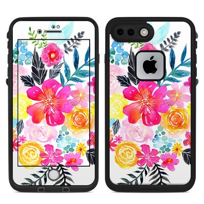 Lifeproof iPhone 7 Plus Fre Case Skin - Pink Bouquet