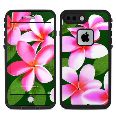 Lifeproof iPhone 7 Plus Fre Case Skin - Pink Plumerias