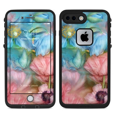 Lifeproof iPhone 7-8 Plus Fre Case Skin - Poppy Garden