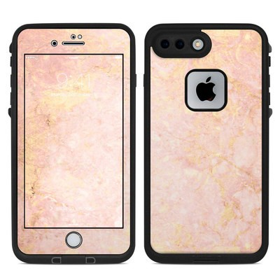 Lifeproof iPhone 7 Plus Fre Case Skin - Rose Gold Marble