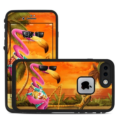 Lifeproof iPhone 7-8 Plus Fre Case Skin - Sunset Flamingo