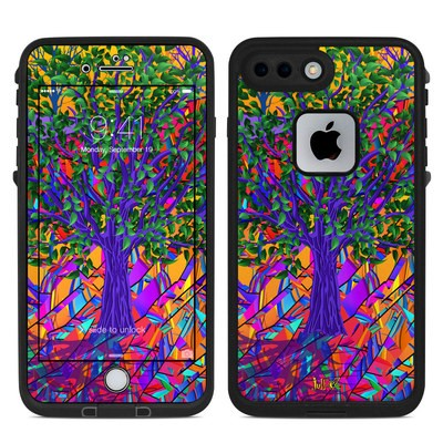 Lifeproof iPhone 7-8 Plus Fre Case Skin - Stained Glass Tree