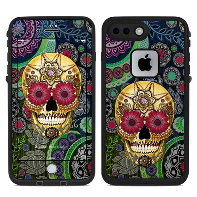 Lifeproof iPhone 7-8 Plus Fre Case Skin - Sugar Skull Paisley