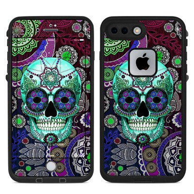 Lifeproof iPhone 7-8 Plus Fre Case Skin - Sugar Skull Sombrero