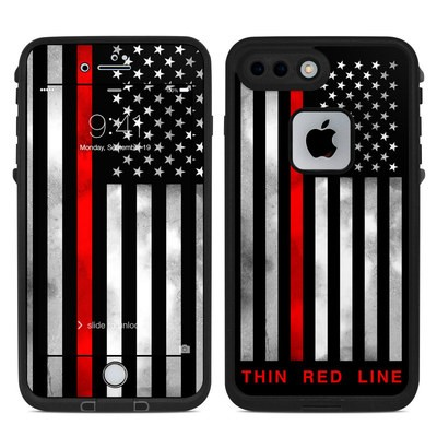 Lifeproof iPhone 7-8 Plus Fre Case Skin - Thin Red Line