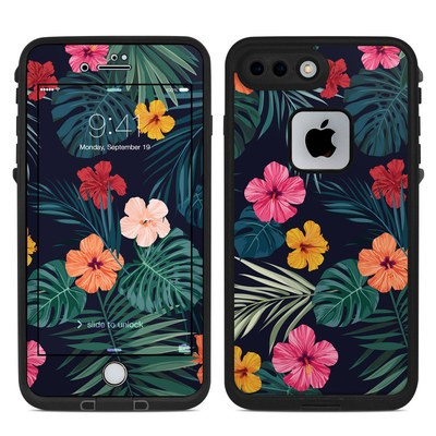Lifeproof iPhone 7-8 Plus Fre Case Skin - Tropical Hibiscus