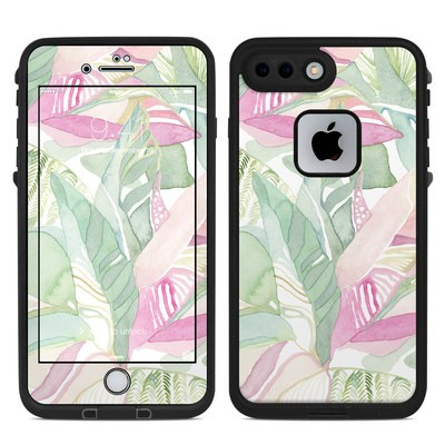 Lifeproof iPhone 7-8 Plus Fre Case Skin - Tropical Leaves