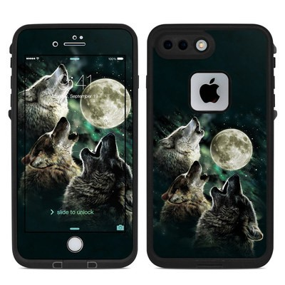 Lifeproof iPhone 7-8 Plus Fre Case Skin - Three Wolf Moon