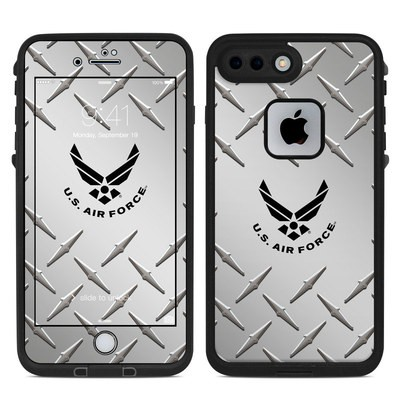 Lifeproof iPhone 7 Plus Fre Case Skin - USAF Diamond Plate