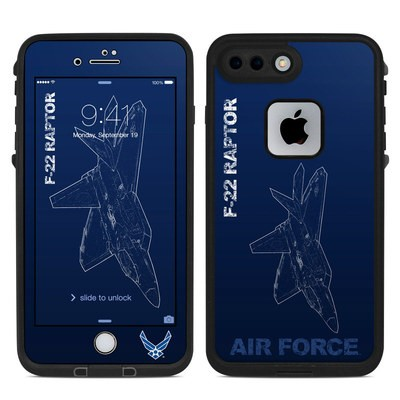 Lifeproof iPhone 7 Plus Fre Case Skin - F-22 Raptor