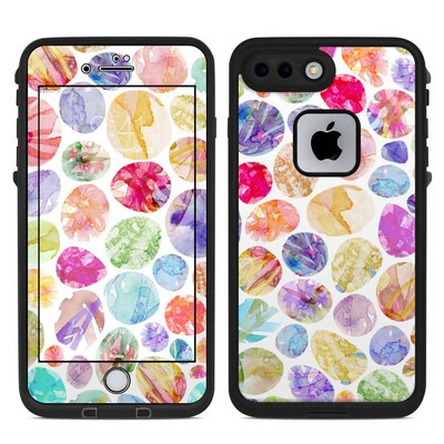 Lifeproof iPhone 7 Plus Fre Case Skin - Watercolor Dots
