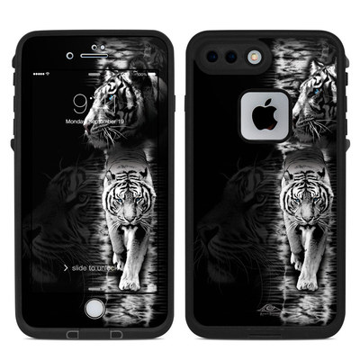 Lifeproof iPhone 7 Plus Fre Case Skin - White Tiger
