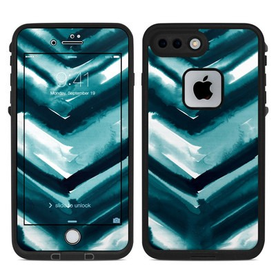 Lifeproof iPhone 7 Plus Fre Case Skin - Watercolor Chevron