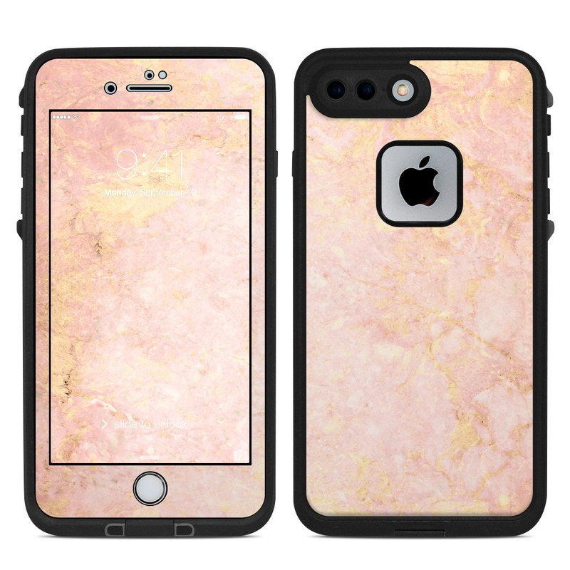 classic fit 68aa2 6a15b Lifeproof iPhone 7 Plus Fre Case Skin - Rose Gold Marble